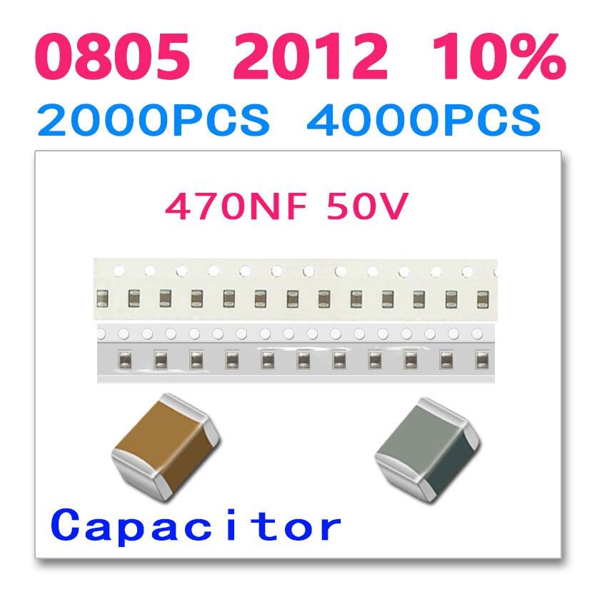 470NF 0805 2012 4000PCS 50V 474 High quality SMD ceramic chip Paper packaging
