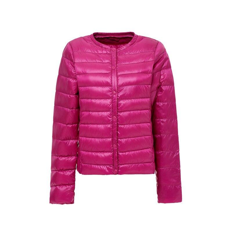 2018 Autumn Winter Ultra light   Down   Jacket Women Plus Size Duck   Down     Coats   Round Neck Slim Portable 3XL Black Parkas QH1250
