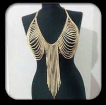NEW ARRIVALS STYLE B504 WOMEN FASHION GOLD COLOUR CHAINS JEWELRY MULTI-LAYERS CHAINS JEWELRY 3 COLORS
