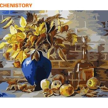 CHENISTORY Europa Blume DIY Malen Nach Zahlen Kit Acryl Malerei Stillleben Abstrakte Malerei Auf Leinwand Für Dekoration