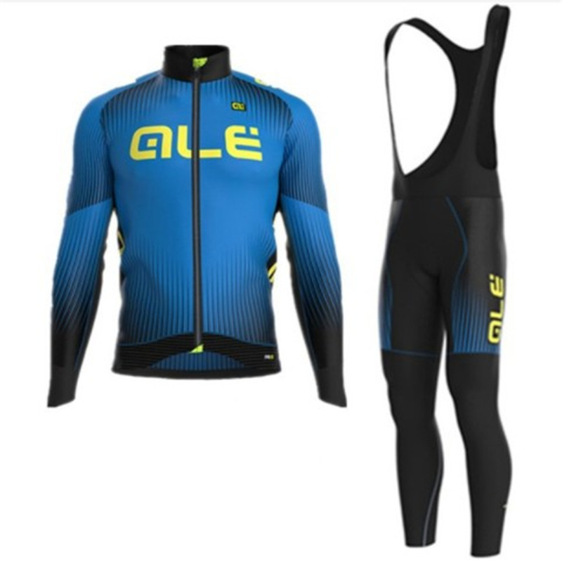 2018 ALE long sleeve riding knitted suit breathable thick sportswear mountain bike clothing cycling clothing