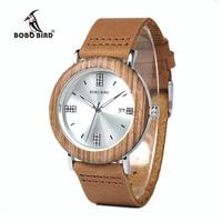 BOBO BIRD WO28 2017 Newest Ladies Wooden Watch Calendar Date Gems Imitate Diamond Fashion Quartz Watches