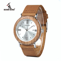 BOBO BIRD WO28 2017 Newest Ladies Wooden Watch Calendar Date Gems Imitate Diamond Fashion Quartz Watches