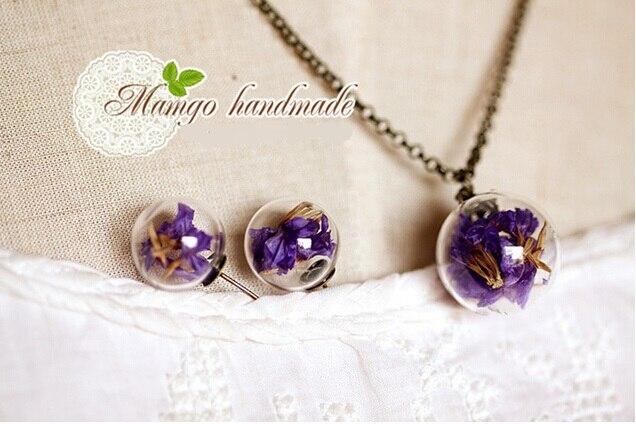 7e2104733 2 قطع الأزياء البسيطة زجاجة من الزجاج الشفاف غطاء كابوشون صنع المجوهرات  قلادة أقراط 14*4 ملليمتر