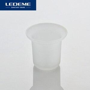 Image 4 - LEDEME حوامل فرشاة تنظيف المرحاض جدار فولاذي مقاوم للصدأ شنت دائم نوع WC فرشاة حامل مع الزجاج كأس حامل كلاسيكي كروم L1910