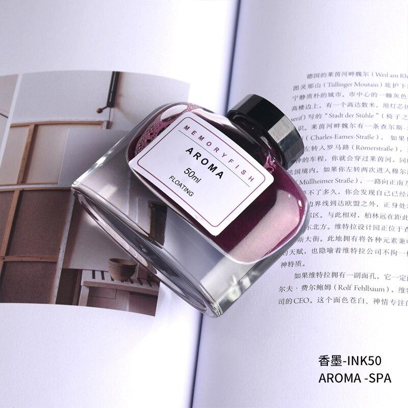 Fragrance Edition 50ml Fountain Pen Gold Ink Non-carbon Colored Glass Flash Gradual Glitter Color