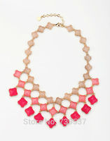 Sweet Women Party Three Strand Different Color Resin Necklace