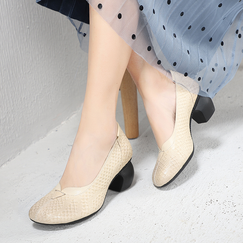 Fish Scale Design Pumps For Lady New Arrival Top Sheepskin Leather Women High Heel Shoes Handmade