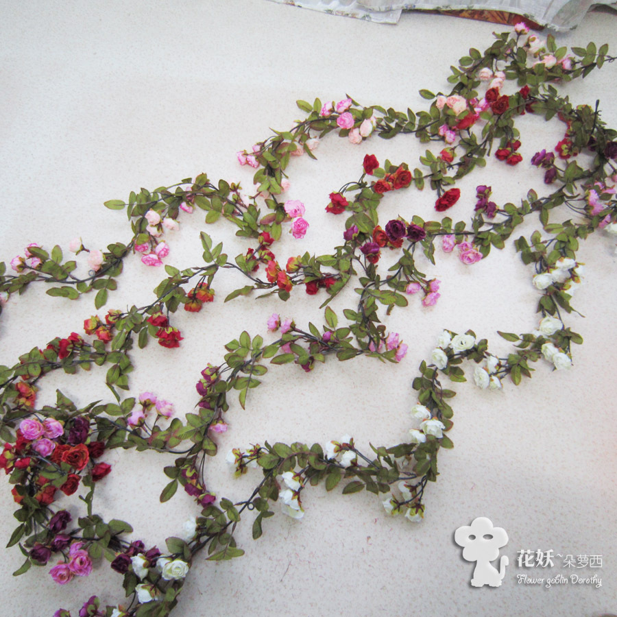Small Rose Artificial Flower Vine Rose Vine Artificial Flower Artificial Flower Artificial