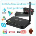Octa Core Android TV BOX Mali-T6X Z4 Serie Android 5.1 Octa core TV Box 2 GB RAM 16 GB incluido Mostrar el Cuadro De Netflix