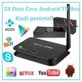 Octa Núcleo Android TV BOX Z4 Série Mali-T6X Android 5.1 Octa Caixa de TV núcleo 2 GB RAM 16 GB incluído Caixa de Show Netflix