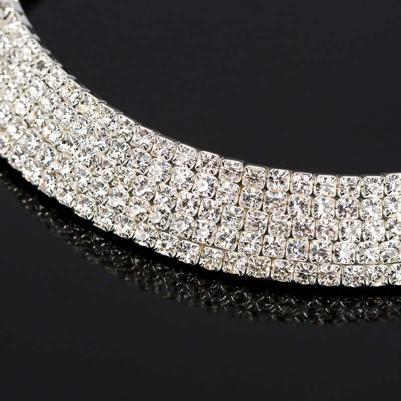 Crystal Rhinestone Necklace Earrings Fashion Jewelry Sets Party - Fashion Jewelry - Photo 5