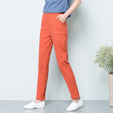 summer Linen Thin section flax Large size Loose Was thin Ankle-Length Pants
