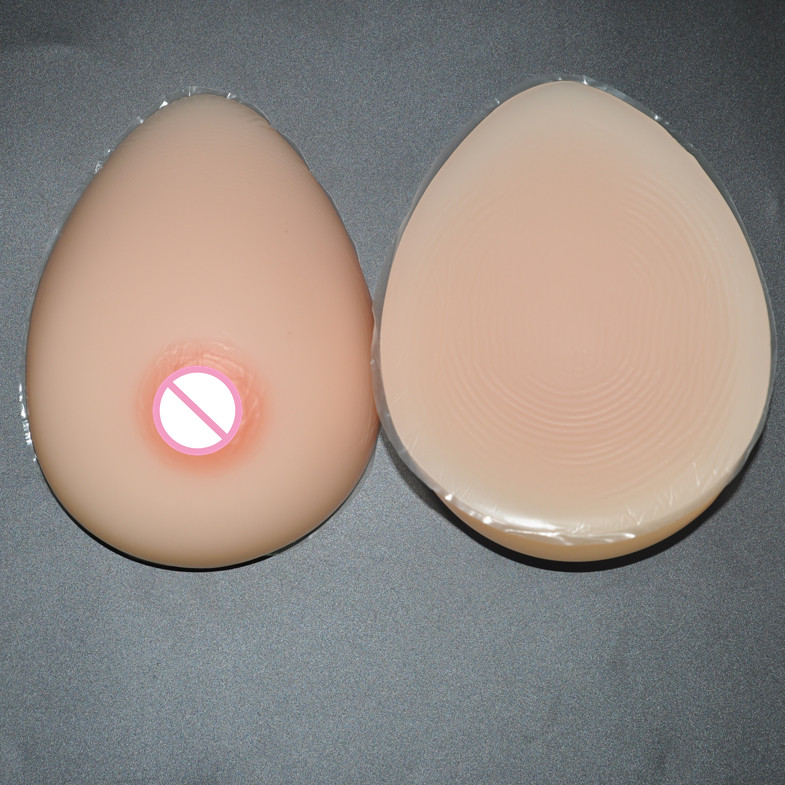 New 1 Pair Size 4XL(1600g) Silicone Breast Form Fake False Artificial Chest Prosthesis Mastectomy Boob Enhancer For Crossdresser