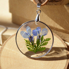 Phesee Handmade Fresh Natural Flower Long Necklaces & Pendants Vintage Rope Chain Statement Necklace Jewelry Accessories Women