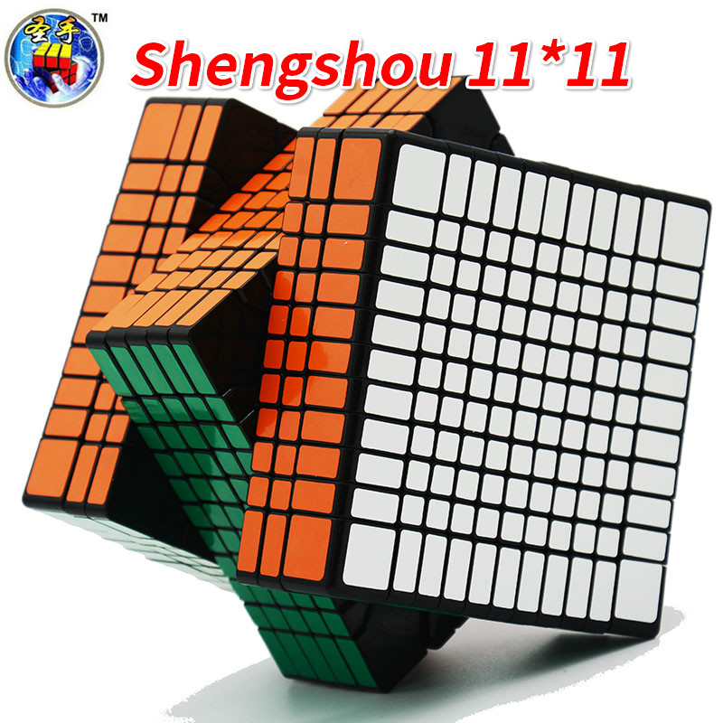 Shengshou 11Layer Magic Cube Black Puzzle Speed Cube PVC Stickers 11x11Layers SS Cube Educational Toys For Children KidsShengshou 11Layer Magic Cube Black Puzzle Speed Cube PVC Stickers 11x11Layers SS Cube Educational Toys For Children Kids