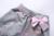 Pettigirl new cinza de algodão menina roupas sest com impressão rosa estrela E Agoras Gola de Renda Bonito Meninas Do Bebê Roupa Dos Miúdos roupas