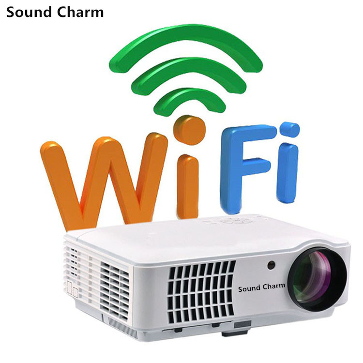 Sound charm Biggest Sale LED Full HD LED Smart Projector Android WIFI Projector Support 1080P