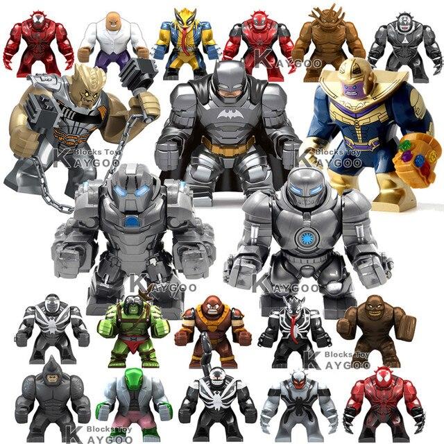 Marvel Super Heroes Avengers Infinito Guerra Abater Ferro Monger Spiderman Venom Motim Thanos Modelo Building Block Set brinquedos Grandes figuras