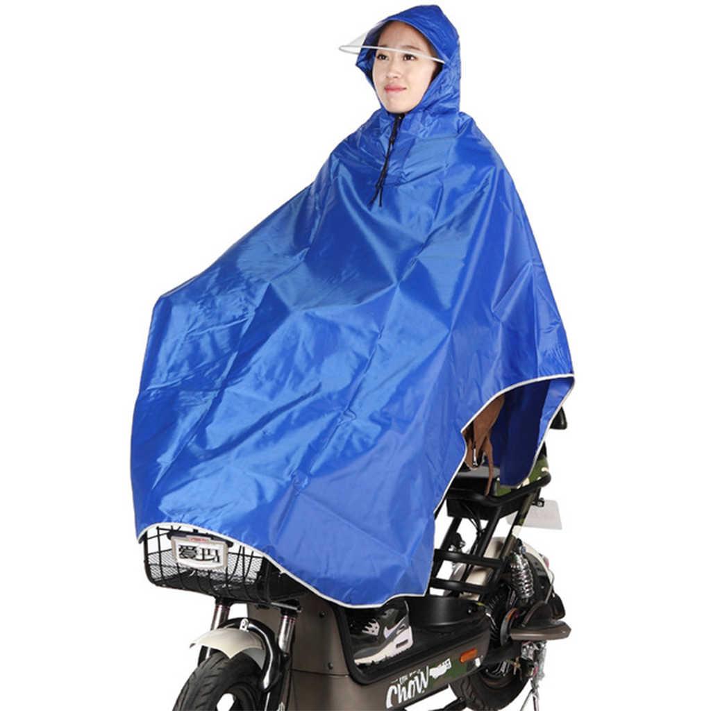 Radfahren Motorrad Regenmantel Herren Frauen Regen Mantel Poncho Mit Kapuze Winddicht Regen Cape Mobilität Roller Fahrrad Abdeckung