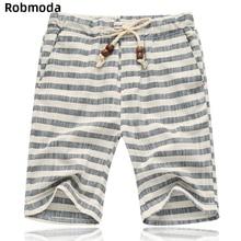 2019 summer fashion clothes Horizontal striped shorts men Elastic waist casual loose Pocket drawstring knee-length short pants