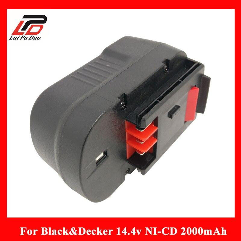 For Black&Decker Ni-Cd 14.4V 2000mAh A144EX A14,A14F,A1714,B-8316,BD1444L,BPT1048,HPB14,FS140BX,FSB14 A9251 batteryFor Black&Decker Ni-Cd 14.4V 2000mAh A144EX A14,A14F,A1714,B-8316,BD1444L,BPT1048,HPB14,FS140BX,FSB14 A9251 battery