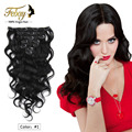 "7A Brazilian Clip In Human Hair Extensions 7pcs/120g Brazilian Loose Wave Clip In Hair Extensions 10-28"" Loose Curly Clip Ins"