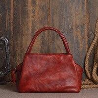 Vintage fashion Crossbody Bag Women's Flap cow Leather Bag Handbag Ladies Messenger Bag Long Strap Female Clutch