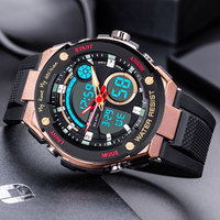 OTS Sport Watch Men Top Brand Luxury Waterproof Electronic Wristwatch LED Digital Wrist Watches For Male