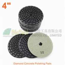 DIATOOL 12pcs 4inch Diamond resin bond concrete polishing pads #50 Renew Sanding discs diatool 9pcs 4inch diamond resin bond concrete polishing pads 1500 renew sanding discs
