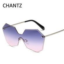 Océano de la vendimia Lente gafas de Sol de Mujer de Marca Accesorios de Gafas Sin Montura de Metal Gafas de Sol de Los Hombres UV400 Gafas De Sol Mujer Hombre
