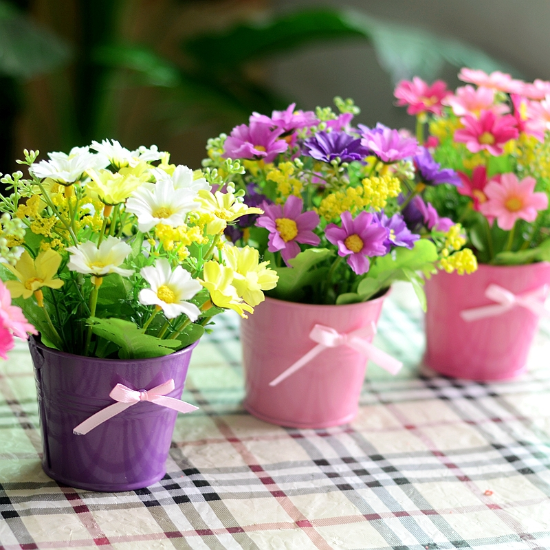 Artificial Flowers Wholesale Silk Flower Corsage Living Room Suit Small  Potted Garden In Artificial U0026 Dried Flowers From Home U0026 Garden On  Aliexpress.com ...