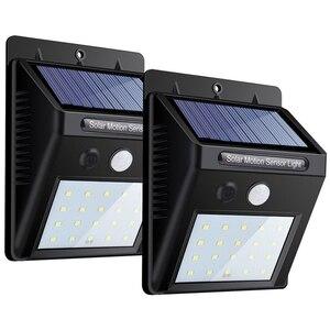 New Scenery 20 30 48 led solar light for outdoor lamp with solar battery LED outdoor lighting on solar energy motion sensor
