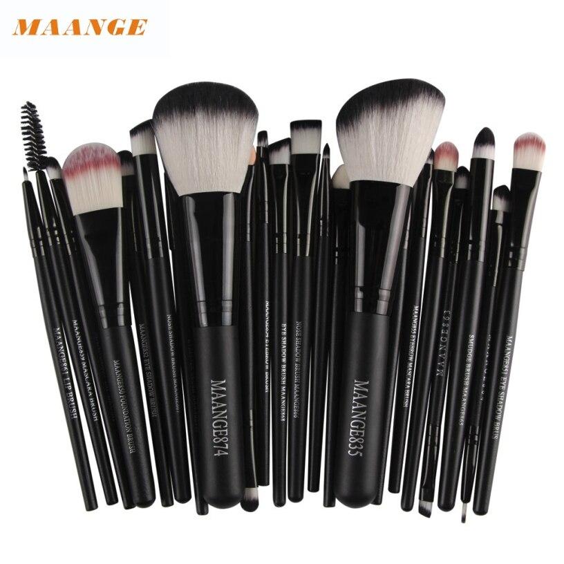 Best Deal MAANGE Professional 22pc Women Cosmetic Makeup Brush Blusher Eye Shadow Brushes Set Kit Pinceau de maquillage for gift клей активатор для ремонта шин done deal dd 0365