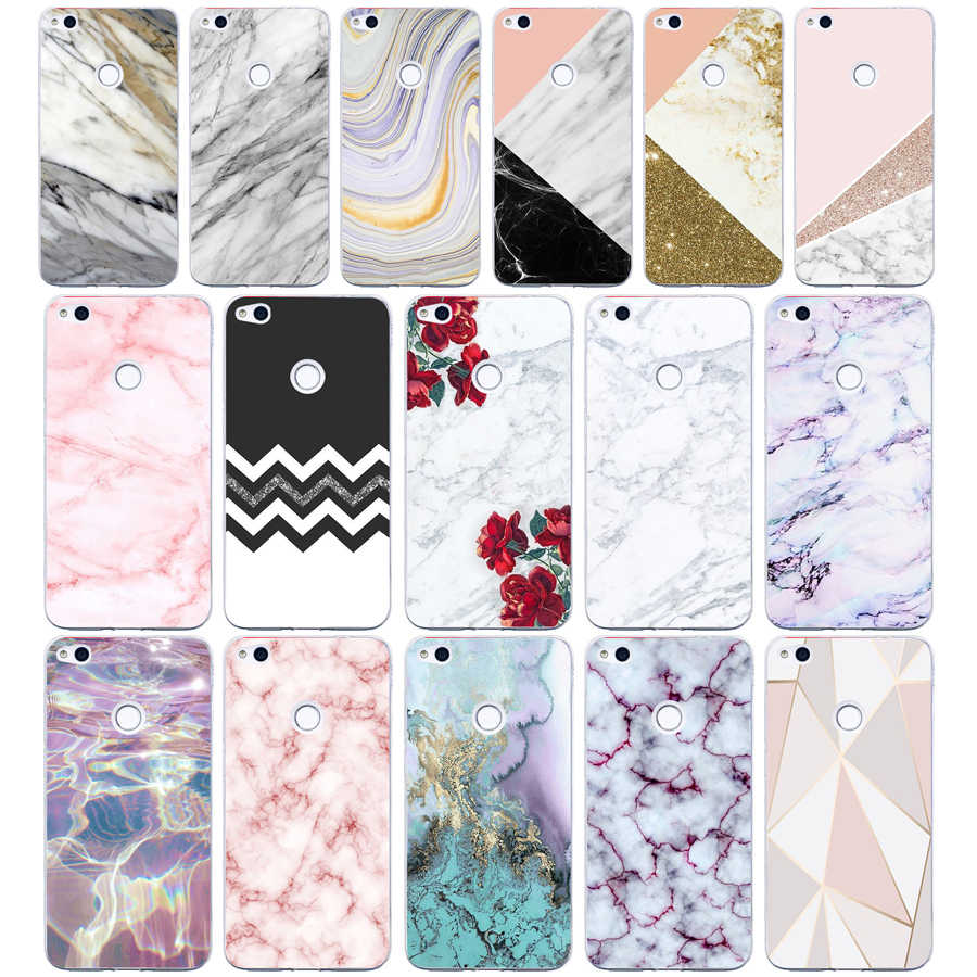 64G Pink Blue  Ink Marble For Huawei P8 Lite 2017 Case Soft Silicon TPU Cover Pattern For Huawei P8 Lite 2017 Phone Case bags