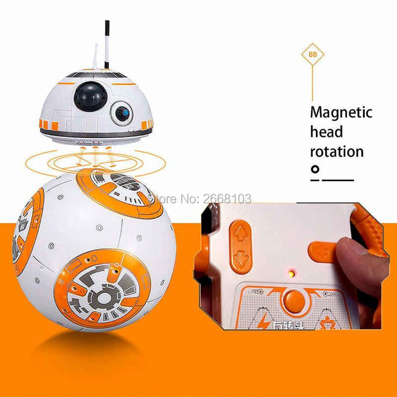 Yükseltme BB-8 Topu 20.5 cm Star Wars RC Droid Robot 2.4G Uzaktan Kumanda BB8 Akıllı Ses Ile Robot Oyuncak çocuklar için Model Eylem