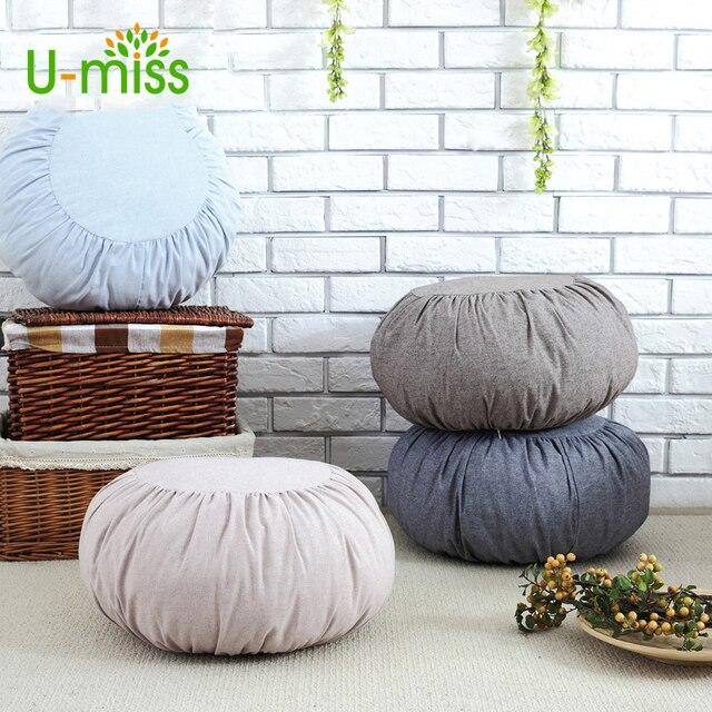 U Miss Japan Cotton Linen Pumpkin Cushion Pillow Futon Removable Washable Sofa Cushions Tatami Meditation
