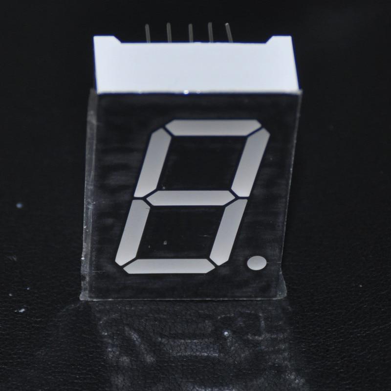 5pcs 7Segments 1inch LED Display CC 1-Bit 4V 1Digital Sign Panel Digit RED LED Displays Tube 7-Segment LED Module Anode Cathode