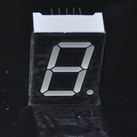 Uds 7 segmentos 1 pulgada Pantalla LED CC 1-poco 4V 1Digital señal Panel de LED rojo muestra tubo 7-segmento LED módulo ánodo, cátodo