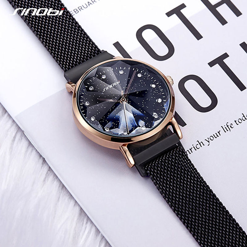 Luxury Brand Women Watch For Fashion Elegant Magnet Buckle Ladies Wrist Watch 2019 Starry Sky Relogio Feminino Gift Female Clock