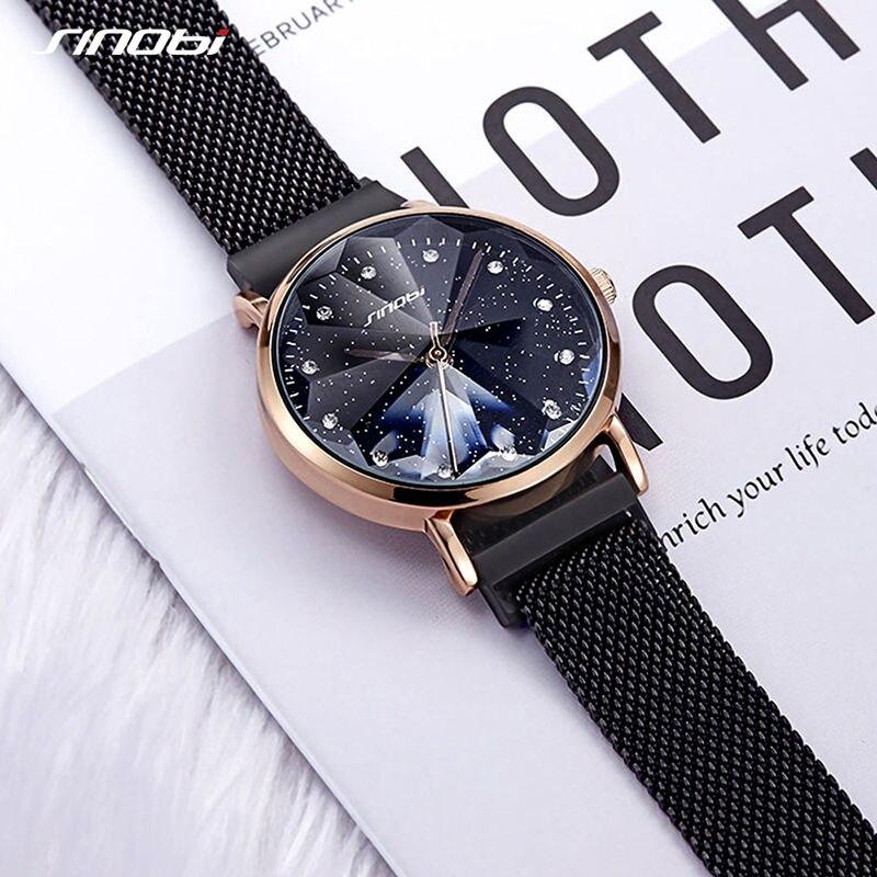Luxury Brand Women Watch For Fashion Elegant Magnet Buckle Ladies Wrist Watch 2019 Starry Sky relogio feminino Gift Female Clock
