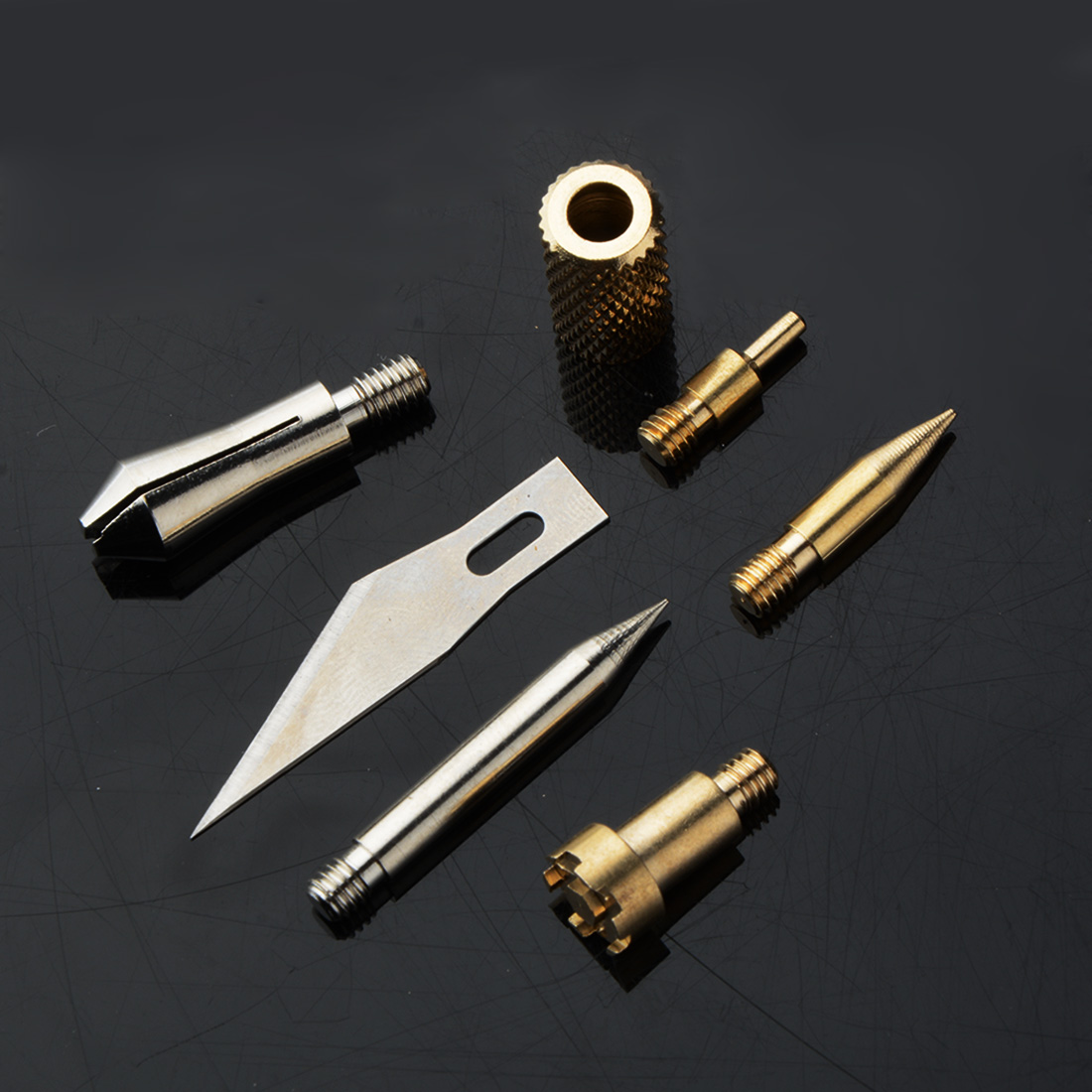 Tool 6 Pcs/ Set Wood Burning Pen Set Welding Tips & Stencil Set Soldering Iron Carving Tools For DIY