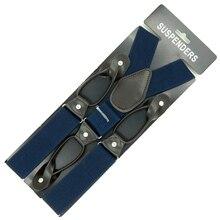 2016 new buttons suspenders man/women fashion braces Adjustable elastic bretelles Y-Back ligas Tirantes 3.5*120cm
