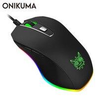 ONIKUMA CW60 Berufs Wired Gaming Maus 6 Tasten 8000 DPI Atem LED Optical USB Computer Maus Gamer Mäuse für PC