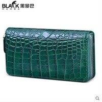 Heimanba Crocodile Leather Women Clutch Bag New Belly Models Luxury Crocodile Leather Thai Wallet Hand Holding
