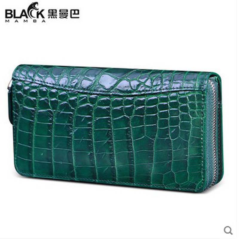 heimanba crocodile leather women clutch bag new belly models luxury crocodile leather Thai wallet hand holding crocodile skin
