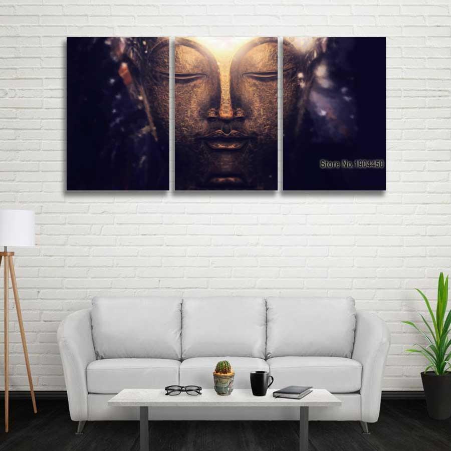 3 Panel Moderne Leinwand Kunst Buddha Meditation Malerei ...
