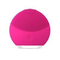 3 Colors Mini Electric Facial Brush Cleaner Silicone Waterproof Ultrasonic Instrument Facial Skin Care Spa Massager