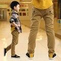 Мальчик ребенок случайные брюки осенью и зимой ребенка плюс бархатные брюки 2016 детская одежда осень утолщение большой мальчик брюки