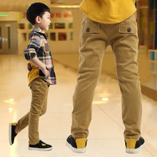 boy child casual pants autumn and winter child trousers plus velvet 2016 children's clothing autumn thickening big boy trousers